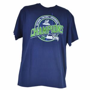 NFL Seattle Seahawks NFC 2013 Champions Navy Blue Tshirt Tee Men Champs
