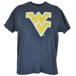 NCAA Colosseum West Virginia Mountaineers Distressed Triblend Tshirt Tee