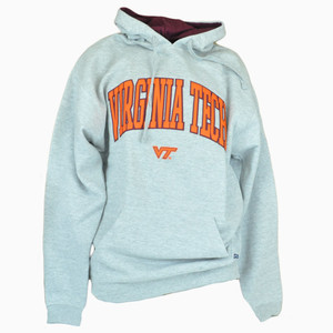 674f7b671c6ff Virginia Tech Hokies NCAA Hoodie Hooded Sweater Pullover Grey Long Sleeve  Fleece
