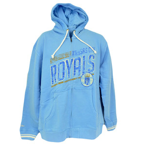 MLB Mitchell & Ness 8484 Repeat Fleece Hoody Hoodie Kansas City Royals