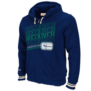 NHL Mitchell & Ness 8484 Repeat Fleece Vintage Hoody Hoodie Vancouver Canucks