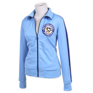 NHL Mitchell & Ness 5674 Women's Face Off Track Jacket Pittsburgh Penguins