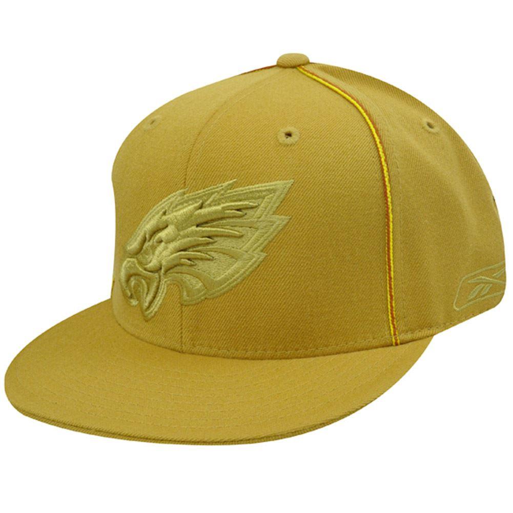 54138e4d57bec PHILADELPHIA EAGLES FLAT BILL MUSTARD HAT CAP FIT 8 NEW - Cap Store ...