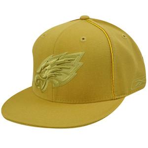 PHILADELPHIA EAGLES FLAT BILL MUSTARD HAT CAP FIT 7 7/8