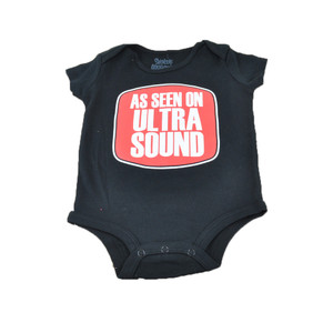 As Seen On Ultra Sound Funny Baby Bodysuit Authentic Spencers Fashion Novelty