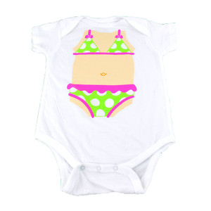 Baby Girl Body On Swimsuit Funny Authentic Spencers Baby Fashion Body Suit White