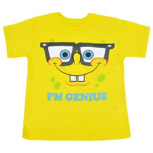 Nickelodeon Spongebob Genius Bob Youth Kids Yellow Tshirt Cartoon Tee