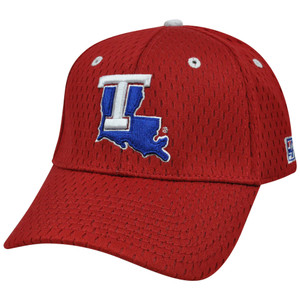 NCAA Louisiana Tech Bulldogs Mesh Construct Curved Bill Hat Cap Red Fitted