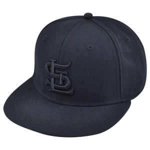 MLB American Needle St Louis Cardinals Cards Black Tonal Fitted Hat Cap