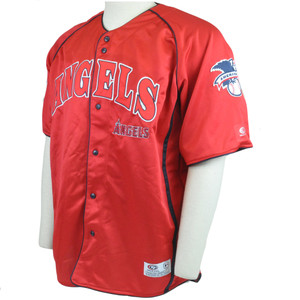 MLB LA Los Angeles Angels True Fan License Lightweight Baseball Jersey XLarge XL
