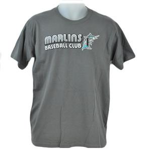 MLB Florida Miami Marlin Baseball Club Junior Youth Tshirt Licensed Tee Gray