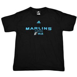MLB Adidas Florida Miami Marlins Youth Kids Licensed Baseball Tshirt Tee Black