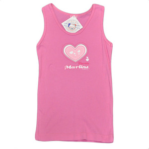 MLB Florida Miami Marlins Youth Kids Girls Baseball Heart Tank Top Pink Cotton