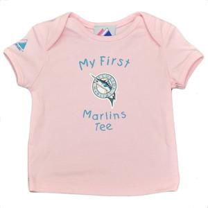 MLB Florida Miami Marlins Baseball Girls Infant Babies Tshirt Tee Pink