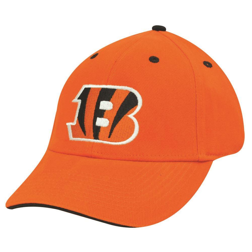 ace216d6bc0 NFL CINCINNATI BENGALS ORANGE COTTON VELCRO HAT CAP - Cap Store Online