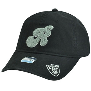 NFL Oakland Raiders Black White Gray Women Ladies Chenille Hat Cap Garment Wash