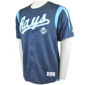 MLB Tampa Bay Rays Baseball League Jersey Shirt True Fan Licensed