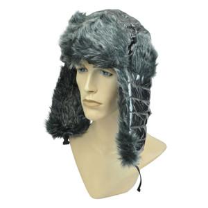 3f7da867187fa Faux Fur Aviator Bomber Bubbly Shiny Ear Flap Pilot Hat Cap Silver Trooper  Cold