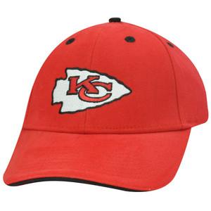 NFL KANSAS CITY CHIEFS ARROW HEAD RED VELCRO HAT CAP