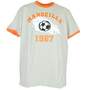 Olympique Olympic Marseille French Soccer France Football Distressed Tshirt 2XL