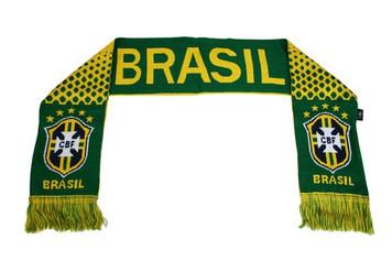 Brasil Brazil CBF World Cup Team Rhinox Group Woven Scarf M1S01 Soccer Futbol