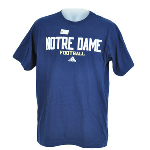 NCAA Adidas Licensed Crew Neck Tshirt Notre Dame Fighting Irish Adult Navy Blue