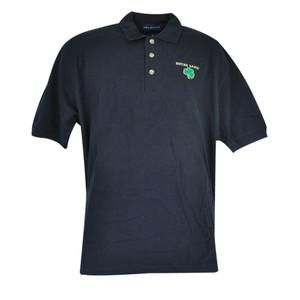 NCAA Notre Dame Fighting Irish Collar Polo Vantage School Work Navy Shirt Medium