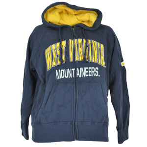 NCAA Colosseum West Virginia Mountaineers Hooded Fleece Hoodie Sweater Small SML