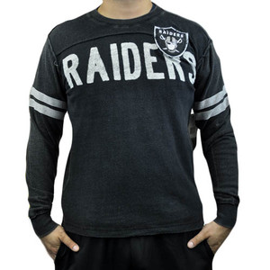 NFL Oakland Raiders Rave Cotton Long Sleeve Premium Shirt Sweatshirt Small SM