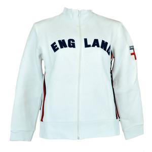 England English Fleece Track Jacket Women Ladies Felt Zipper Sweater