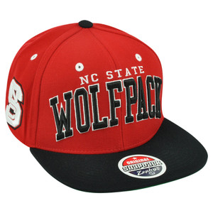 NCAA NC State Wolfpack Zephyr Super Star Snapback Flat Bill Two Tone Hat Cap