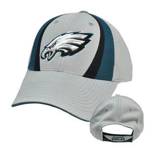 NFL Philadelphia Eagles Gray Teal Black Velcro Jersey Mesh Licensed Hat Cap