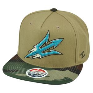NCAA Zephyr Arizona State Sun Devils Zuni 5 Panel Camouflage Snapback Hat Cap