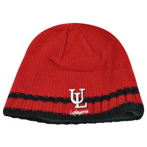 NCAA Lafayette Ragin Cajuns Striped Fleece Cuffless Knit Beanie Winter Hat Toque