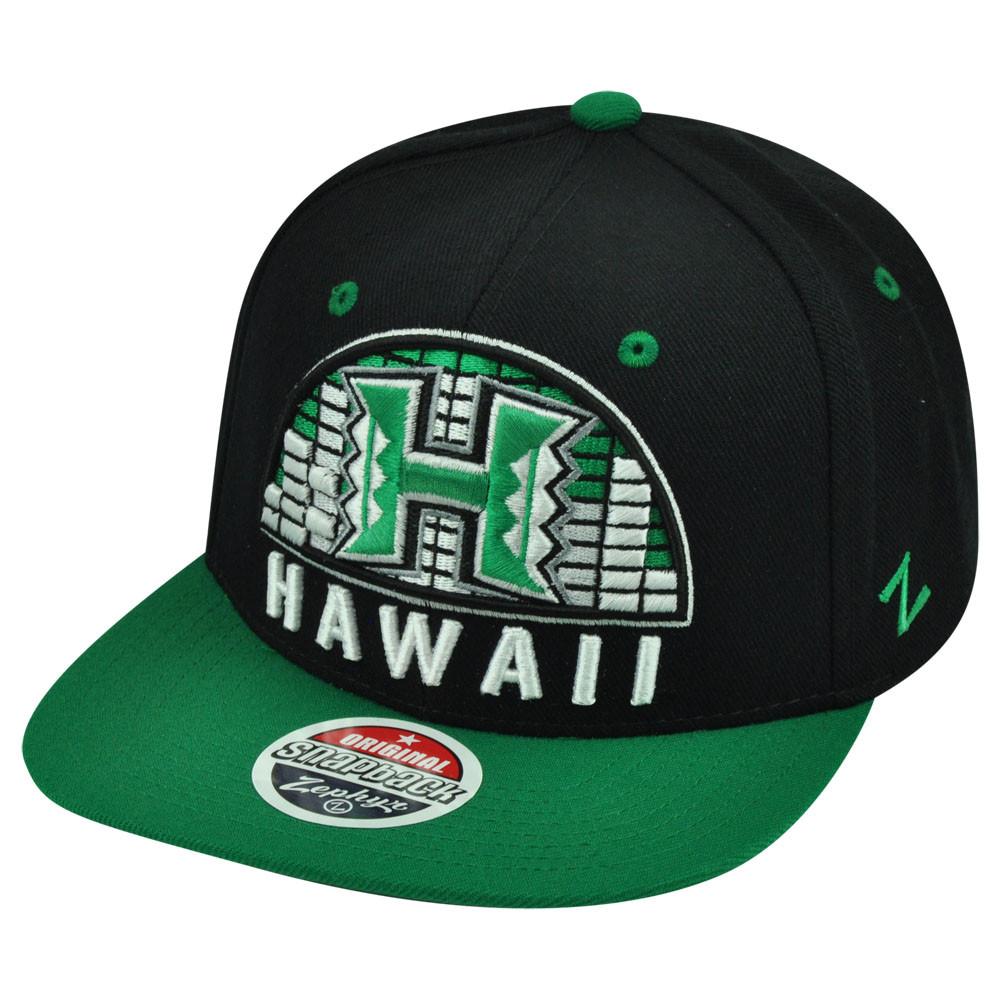 44caa5eb660 NCAA Zephyr Hawaii Rainbow Warriors Equalizer 32 5 Snapback Flat ...