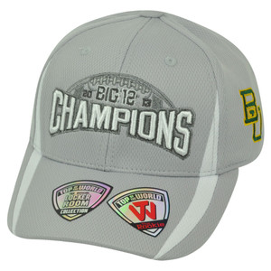 NCAA Baylor Bears Youth 2013 Big 12 Football Champs Velcro Top the World Hat Cap