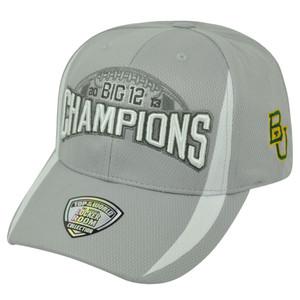 NCAA Baylor Bears BU 2013 Big 12 Football Champs Velcro Top of the World Hat Cap