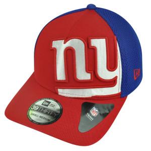 NFL New Era 3930 New York Giants Flex Fit Small Medium Logo Blimp Neo Hat Cap
