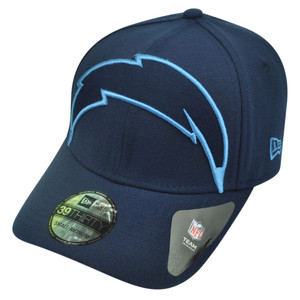 NFL New Era 3930 San Diego Chargers Flex Fit Small Medium Magnifier Hat Cap Navy