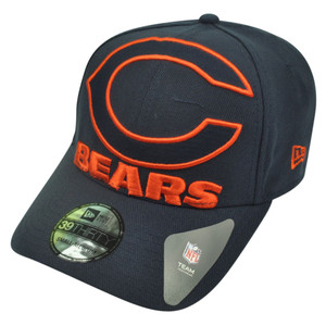 68117a267 NFL New Era 3930 39Thirty Chicago Bears Flex Fit Small Medium Magnifier Hat  Cap