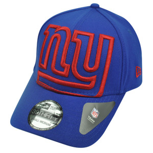 NFL New Era 3930 New York Giants Flex Fit Medium Large Magnifier Hat Cap Blue