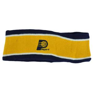 NBA Indiana Pacers Fleece Yellow Head Sweat Sports Band Basketball Double Stripe