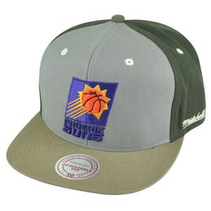 NBA Mitchell Ness Phoenix Suns NJ14 Tri Green Snapback Flat Bill Hat Cap HWC