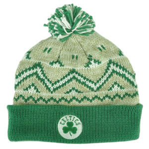 NBA Adidas Boston Celtics KE76Z Green Alpine Cuffed Pom Knit Beanie Toque  Hat fc79dfdeddca