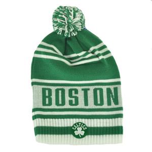 f905b2f6ca2 NBA Adidas Boston Celtics KF09Z Green Cuffless Skully Pom Knit Beanie Toque  Hat