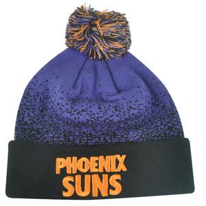 NBA Mitchell Ness Title Knit KM11 Cuffed Pom Pom Beanie Phoenix Suns HWC Skully
