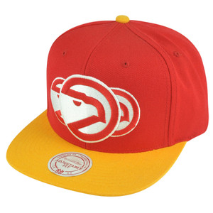 NBA Mitchell Ness HWC Atlanta Hawks NP57 Triple Stack Logo Snapback Hat Cap