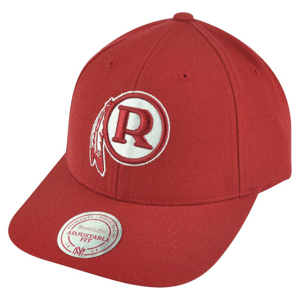 NFL Mitchell Ness Washington Redskins NJ33 Logo Solid Snapback Curved Hat  Cap. Image 1 548208657