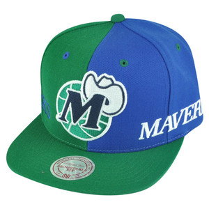 NBA Mitchell Ness NK27 Spilt Dallas Mavericks HWC Hat Cap Snapback 2 Tone Mavs