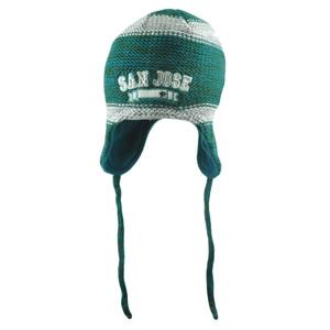 NHL San Jose Sharks Bosworth Ear Flap Fleece Knit Beanie Peruvian Laplander Hat